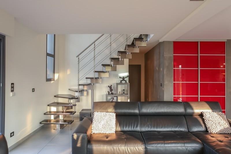 Escalier contemporain inox bois nos r alisations - Salon habitat beauvais ...